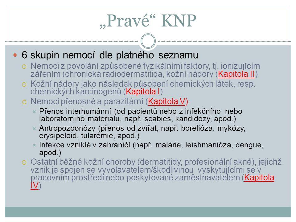 """""""Pravé KNP 6 skupin nemocí dle platného seznamu"""