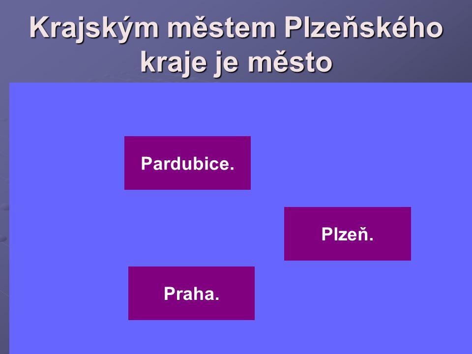 Krajským městem Plzeňského kraje je město