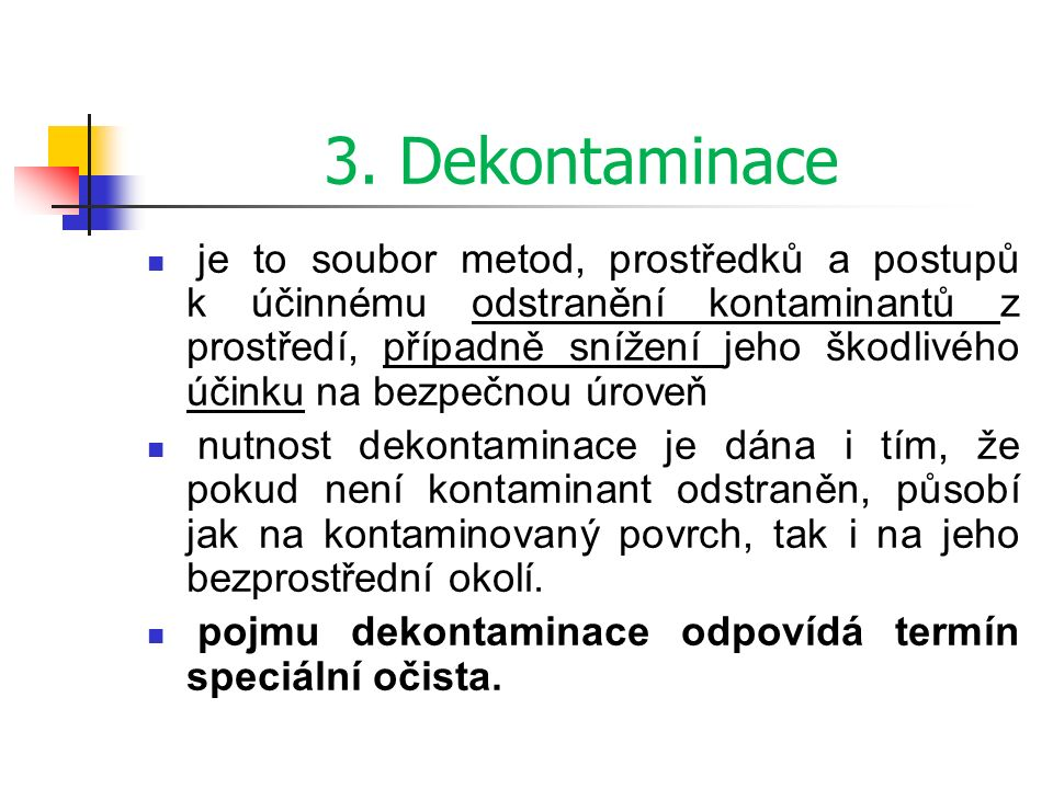 3. Dekontaminace