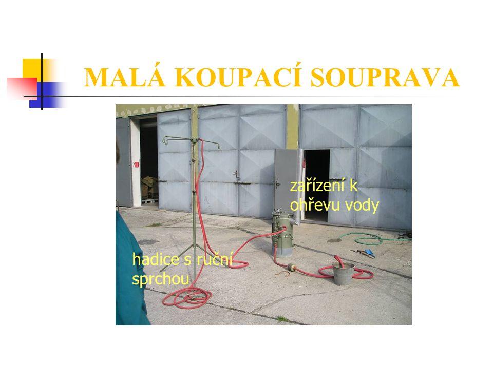 MALÁ KOUPACÍ SOUPRAVA zařízení k ohřevu vody hadice s ruční sprchou