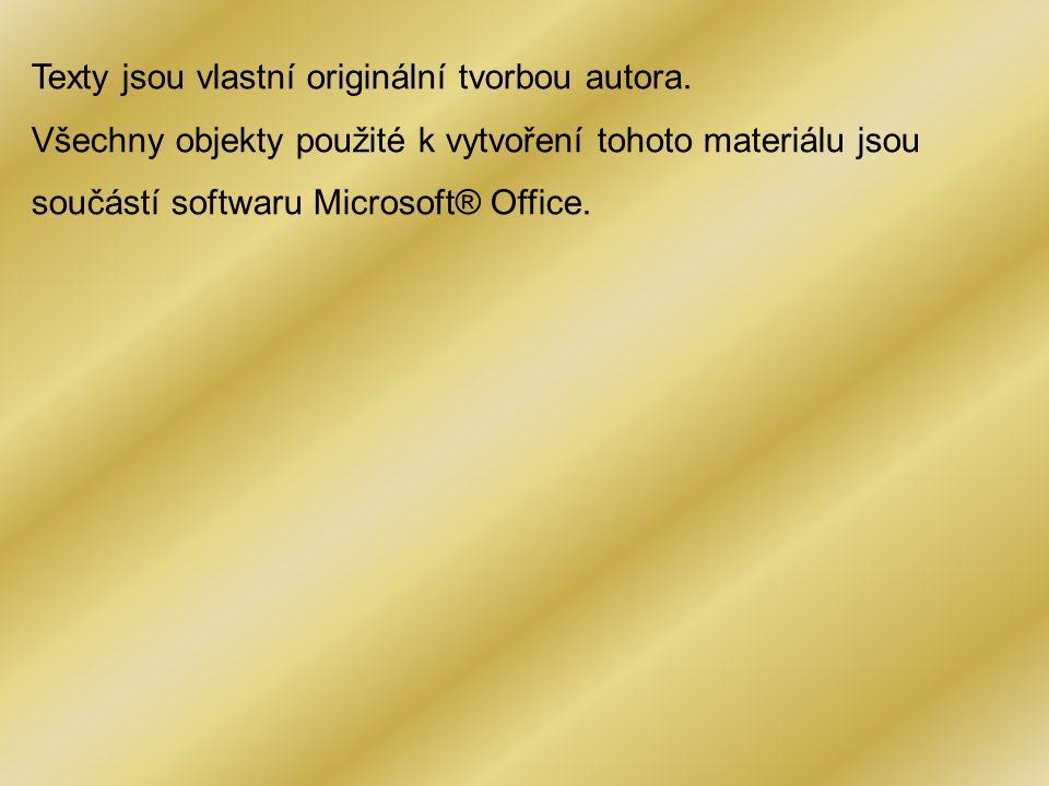 Texty jsou vlastní originální tvorbou autora.