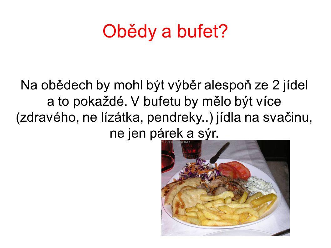 Obědy a bufet