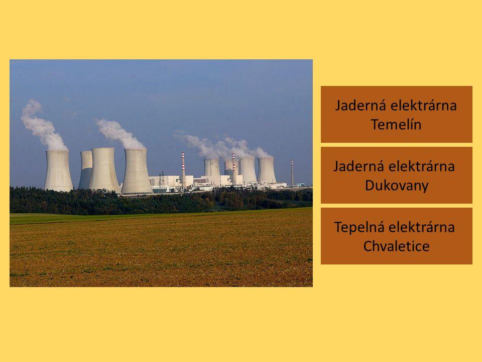 Jaderná elektrárna Temelín Jaderná elektrárna Dukovany Tepelná elektrárna Chvaletice