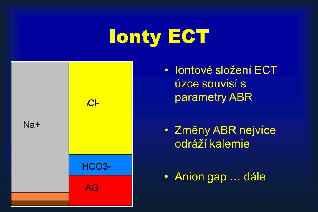 Ionty ECT Iontové složení ECT úzce souvisí s parametry ABR