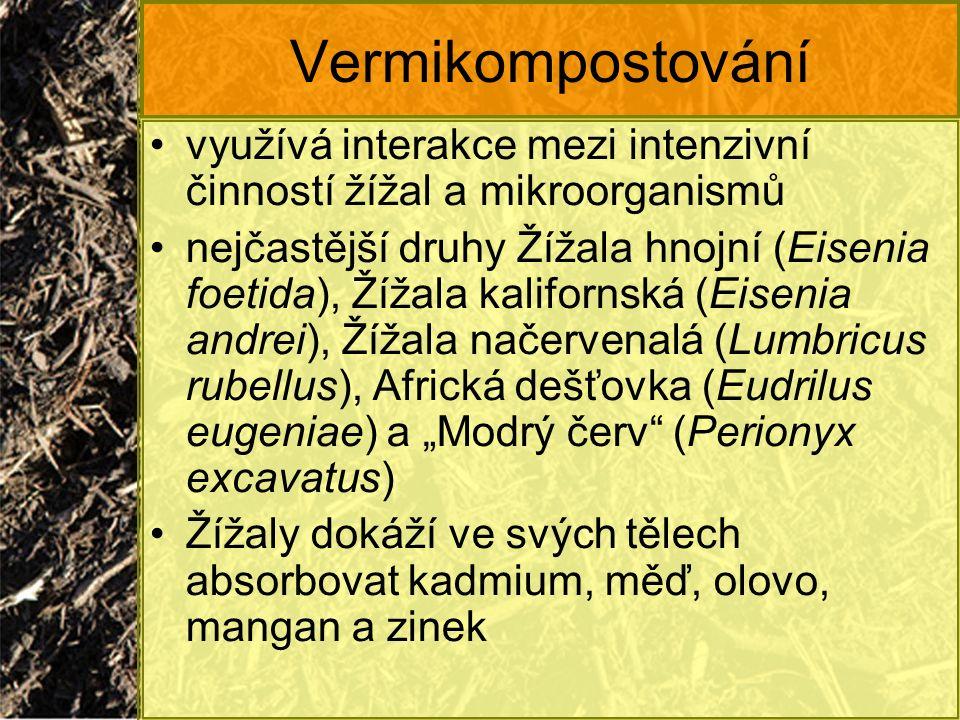 Vermikompostování využívá interakce mezi intenzivní činností žížal a mikroorganismů.