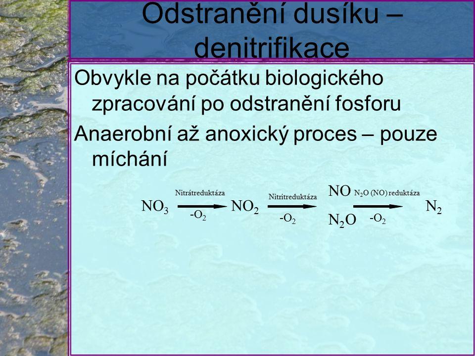 Odstranění dusíku – denitrifikace