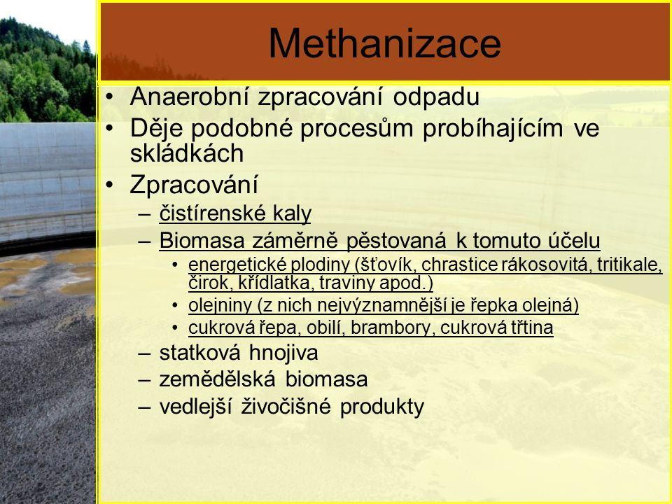 Methanizace Anaerobní zpracování odpadu