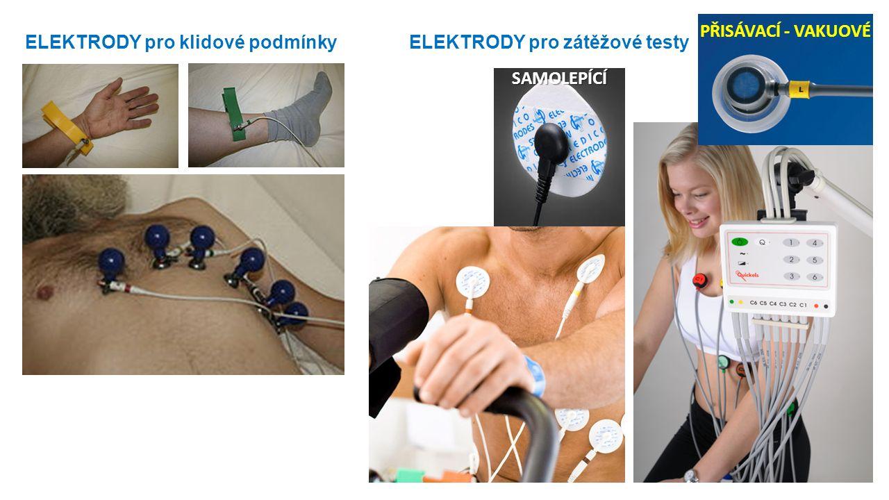 ELEKTRODY pro klidové podmínky ELEKTRODY pro zátěžové testy