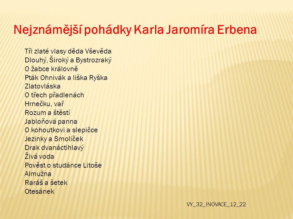 Nejznámější pohádky Karla Jaromíra Erbena
