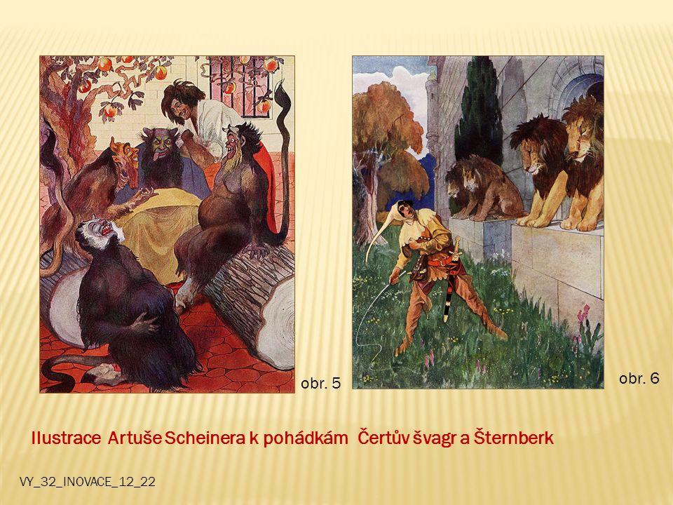 Ilustrace Artuše Scheinera k pohádkám Čertův švagr a Šternberk