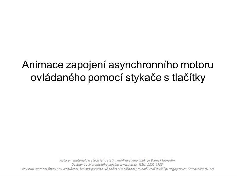 Animace zapojení asynchronního motoru