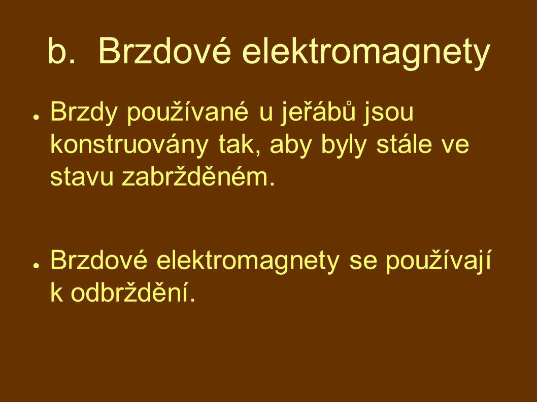 b. Brzdové elektromagnety