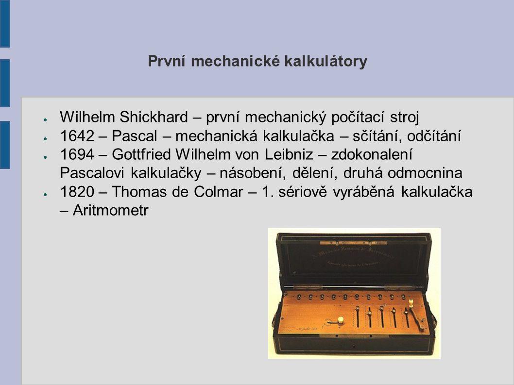 První mechanické kalkulátory