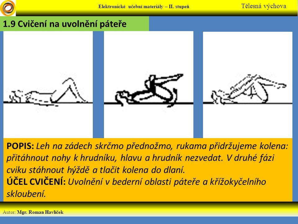 1.9 Cvičení na uvolnění páteře