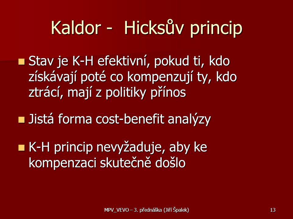 Kaldor - Hicksův princip