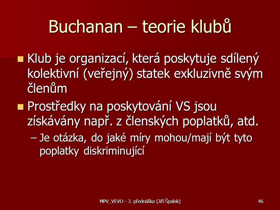 Buchanan – teorie klubů