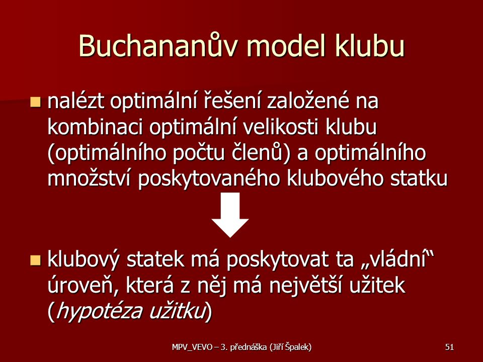 Buchananův model klubu
