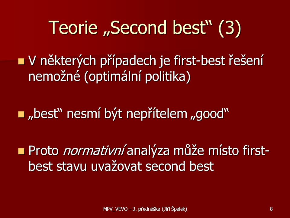"Teorie ""Second best (3)"