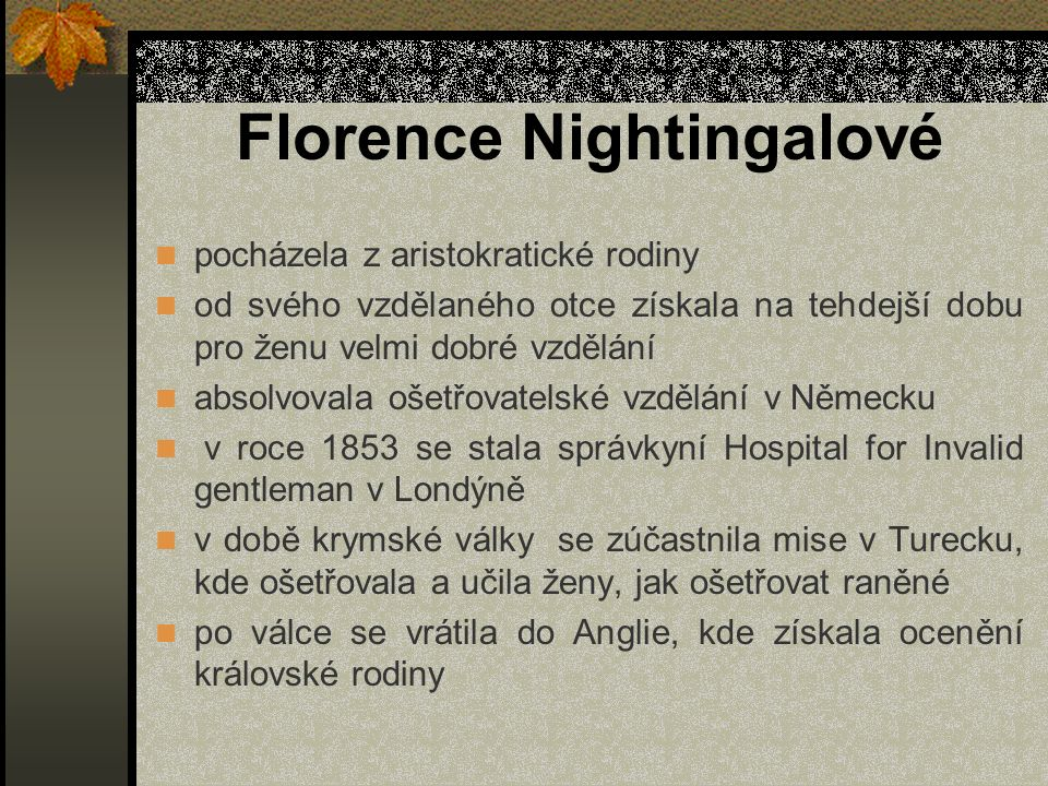 Florence Nightingalové