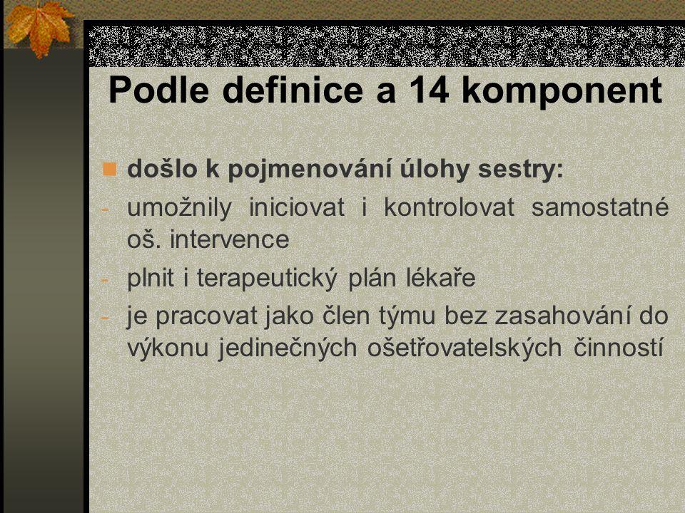 Podle definice a 14 komponent