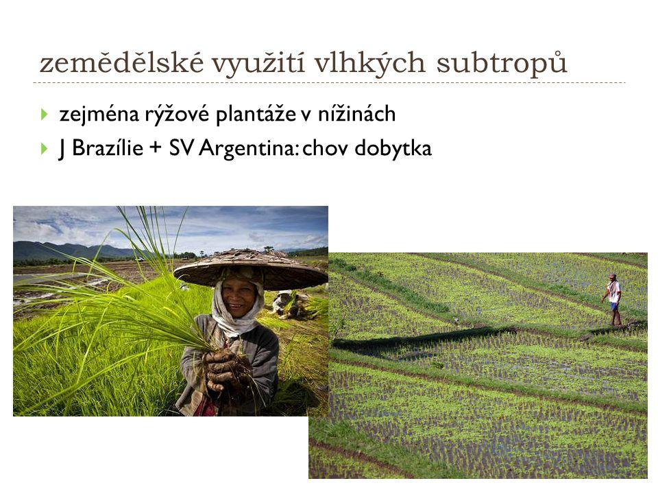 zemědělské využití vlhkých subtropů