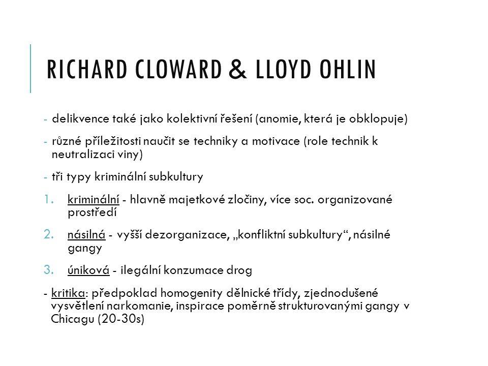 richard cloward & LLOYD OHLIN