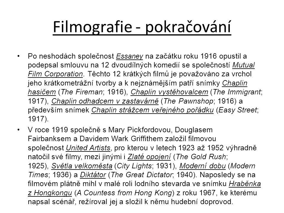 Filmografie - pokračování