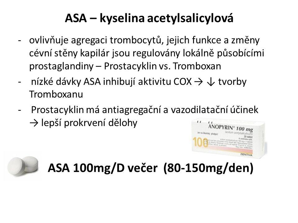 ASA – kyselina acetylsalicylová