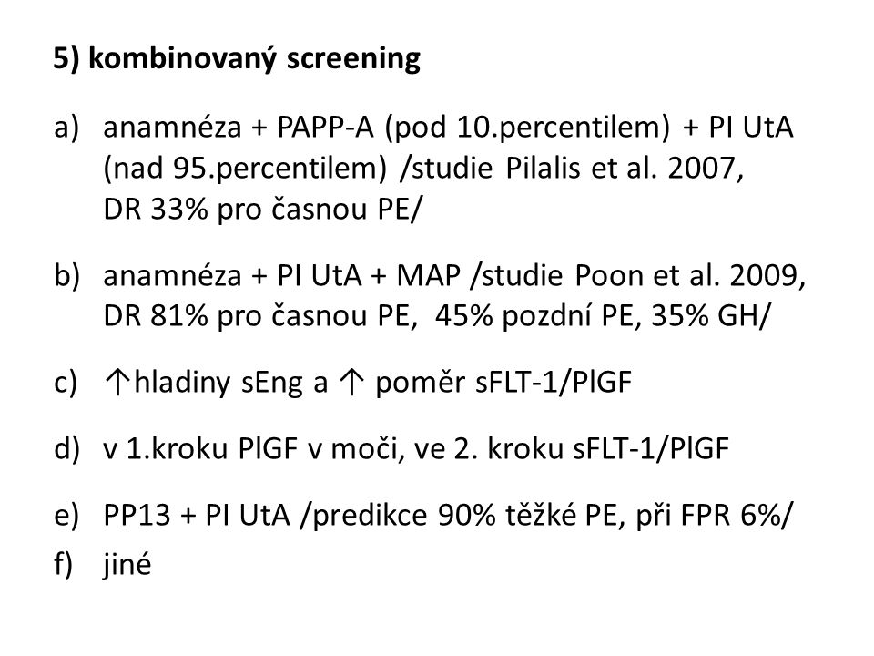 5) kombinovaný screening