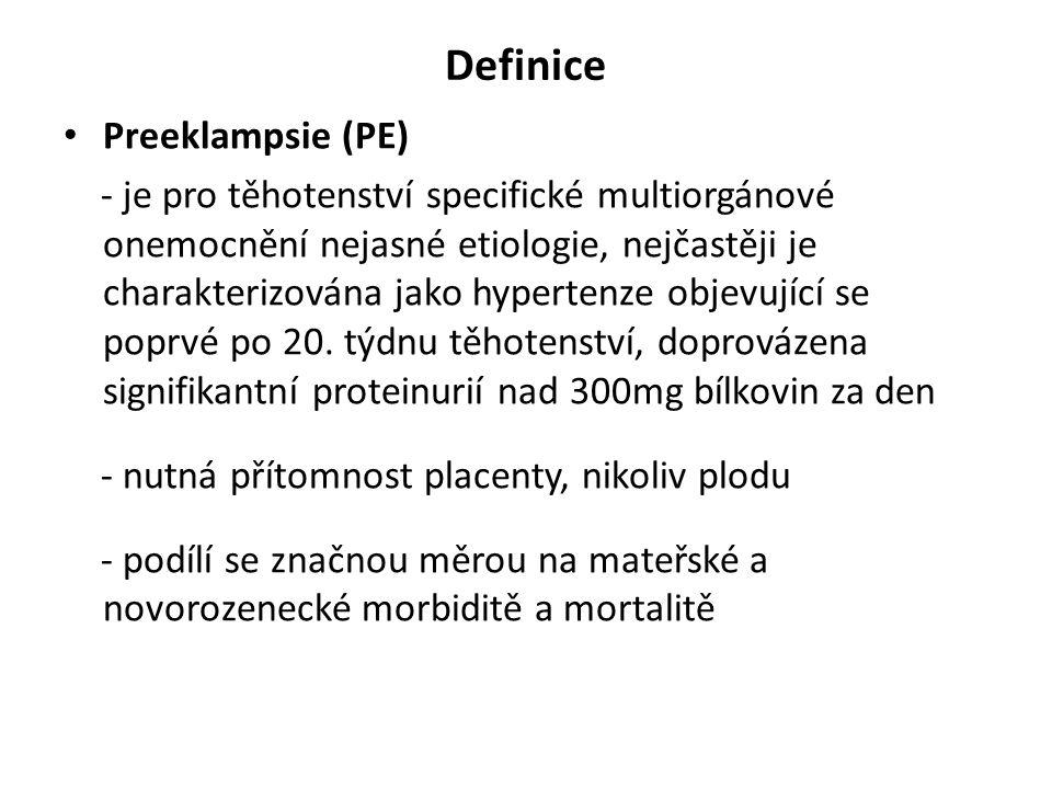 Definice Preeklampsie (PE)