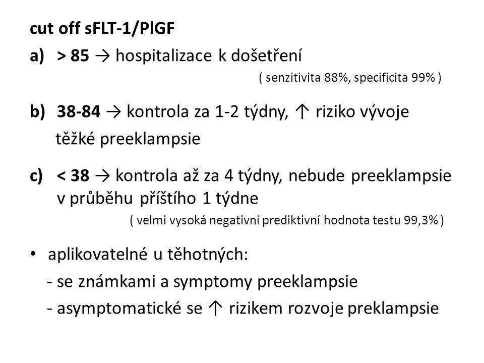 > 85 → hospitalizace k došetření