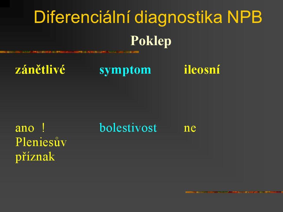 Diferenciální diagnostika NPB
