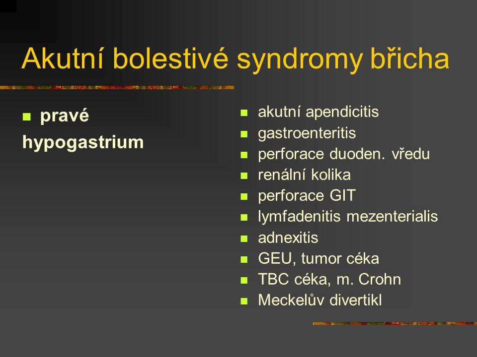 Akutní bolestivé syndromy břicha