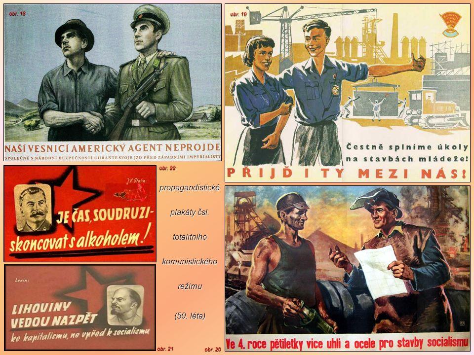 propagandistické plakáty čsl. totalitního komunistického režimu
