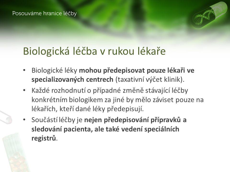 Biologická léčba v rukou lékaře
