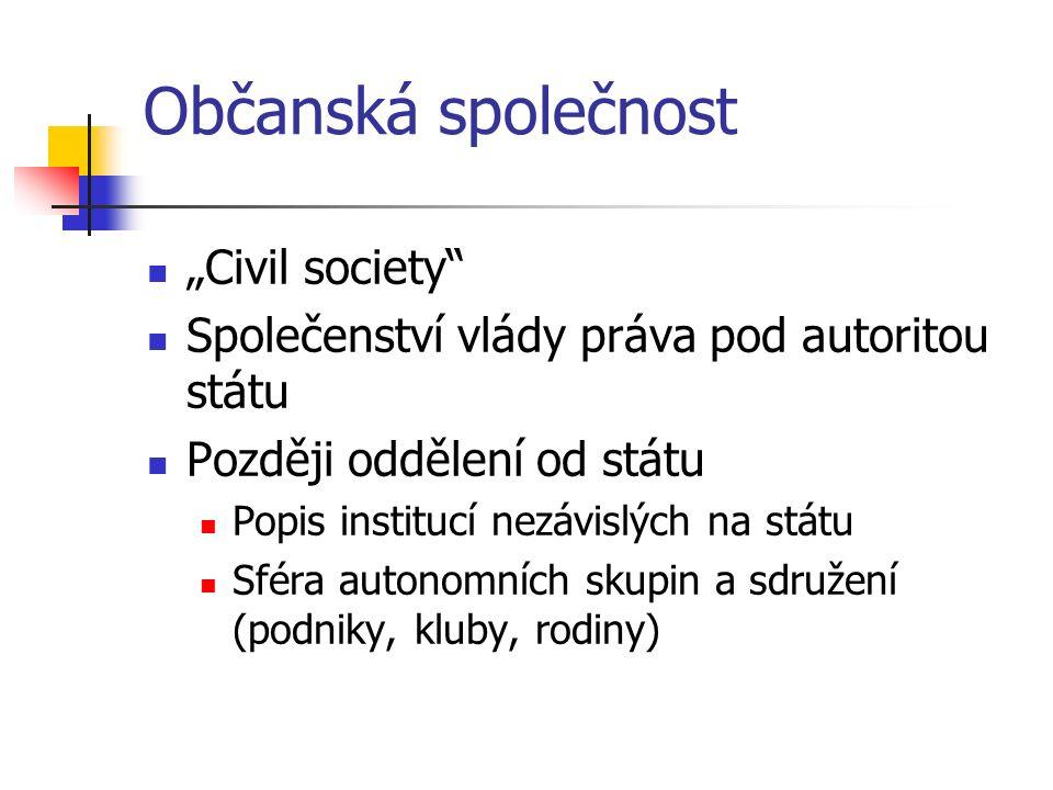 """Občanská společnost """"Civil society"""