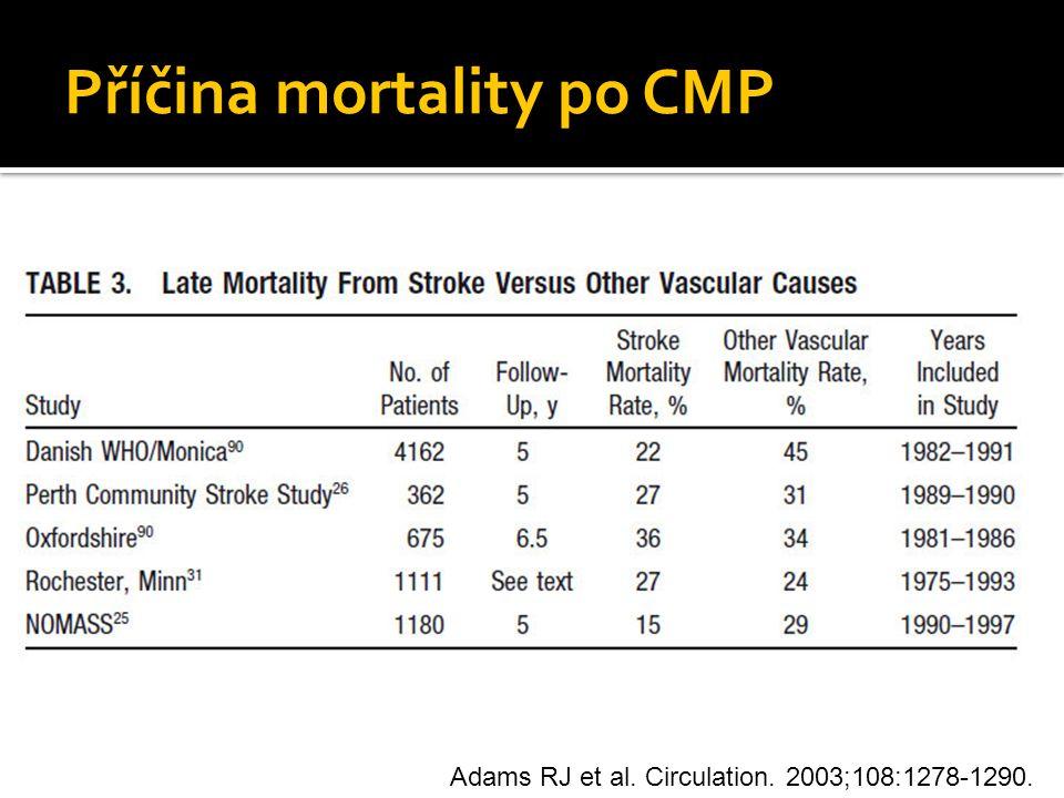 Příčina mortality po CMP