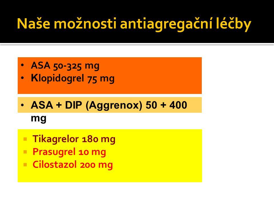 Naše možnosti antiagregační léčby