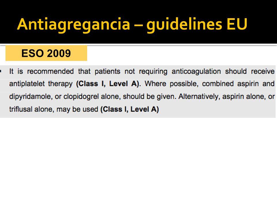 Antiagregancia – guidelines EU