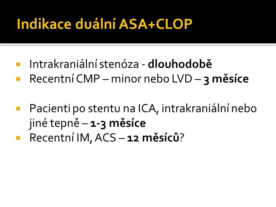Indikace duální ASA+CLOP