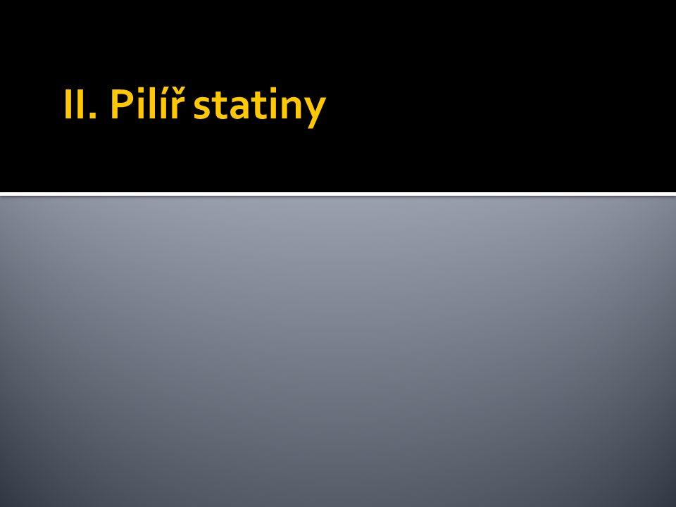 II. Pilíř statiny
