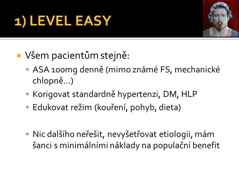 1) LEVEL EASY Všem pacientům stejně: