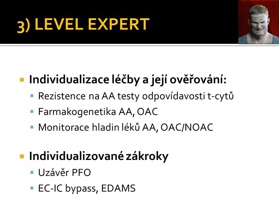 3) LEVEL EXPERT Individualizace léčby a její ověřování: