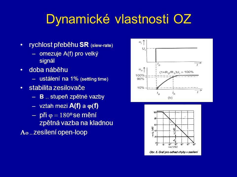 Dynamické vlastnosti OZ