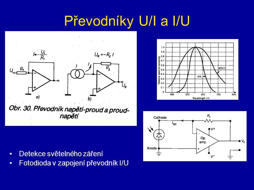 Převodníky U/I a I/U Detekce světelného záření