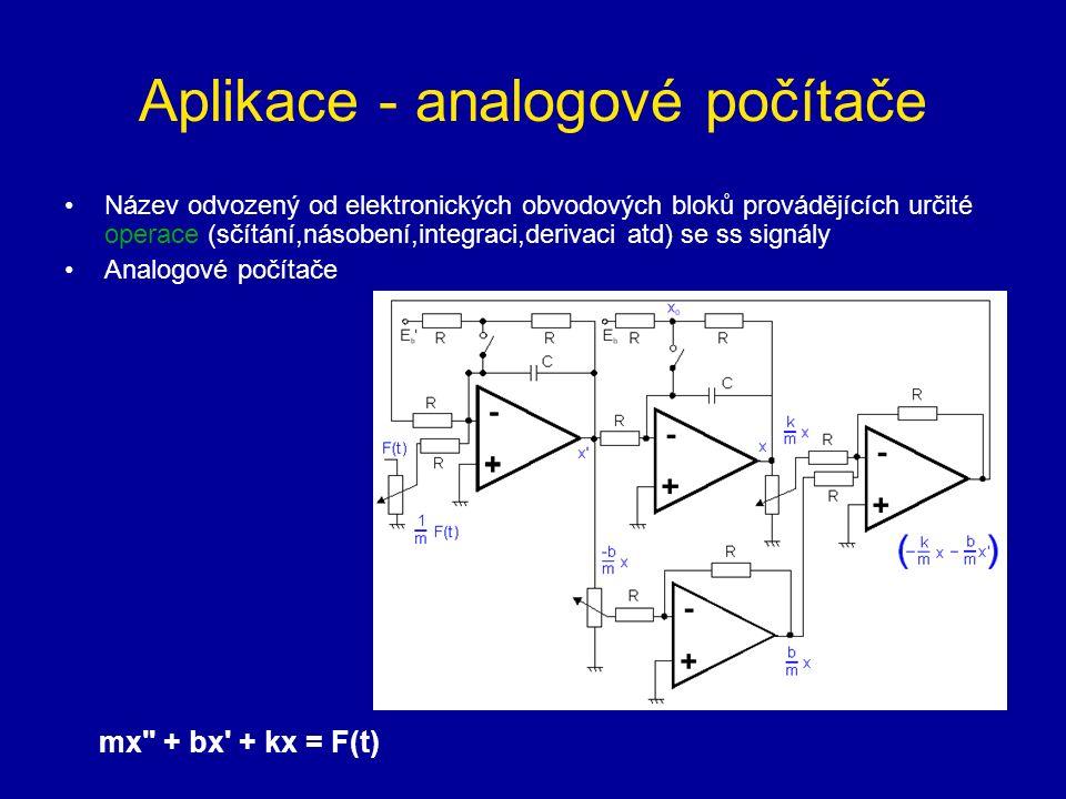 Aplikace - analogové počítače