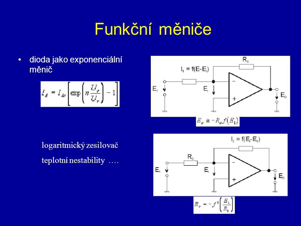 Funkční měniče dioda jako exponenciální měnič logaritmický zesilovač
