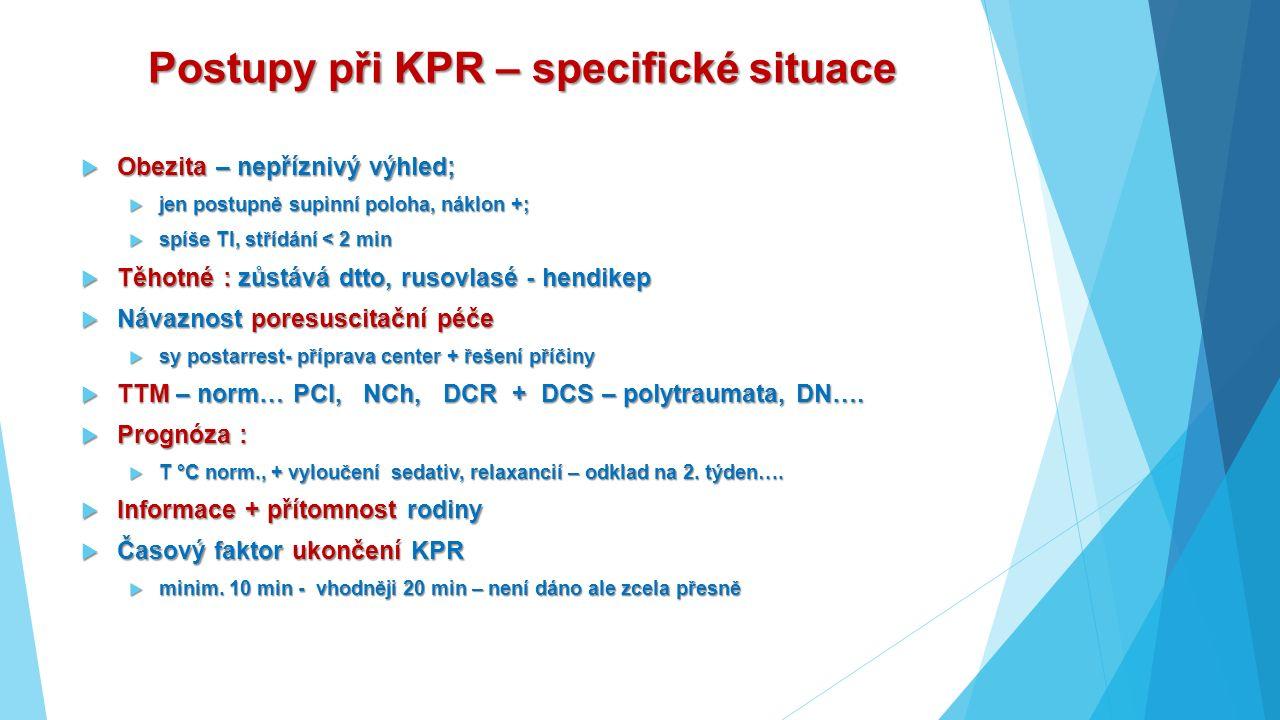 Postupy při KPR – specifické situace