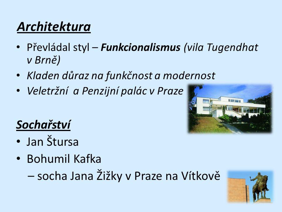Architektura Sochařství Jan Štursa Bohumil Kafka
