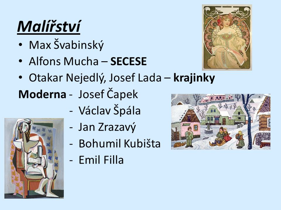 Malířství Max Švabinský Alfons Mucha – SECESE